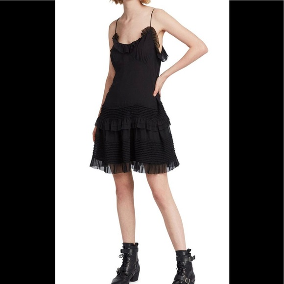 SOLD!!! All Saints Sanse Dress in Black, size 6
